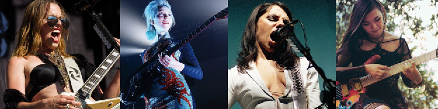 LET GIRLS ROCK - Rock guitarists in the course of time